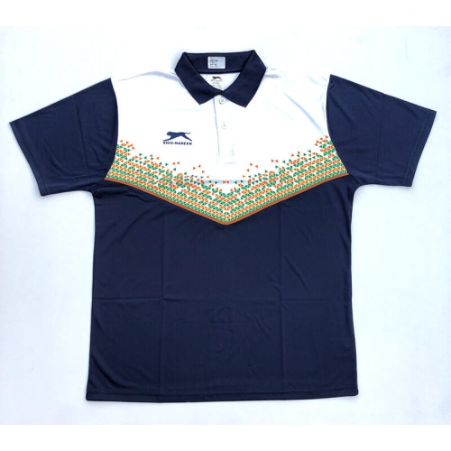 Shiv Naresh Dark Blue-White India Tshirt  Track Suit