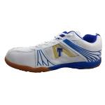 Shiv Naresh Trenz Badminton Shoes - White/Blue