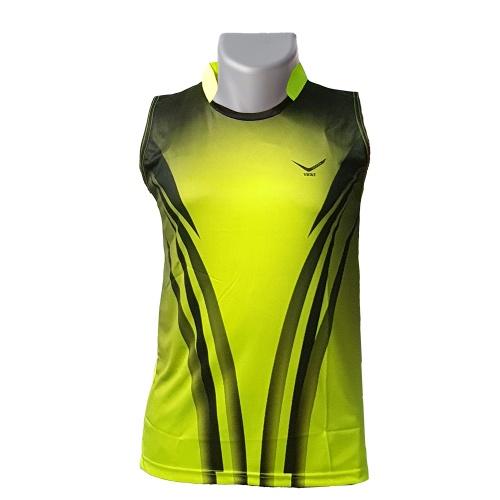 Vicky Sleeveless Collar Badminton Tshirt - Black