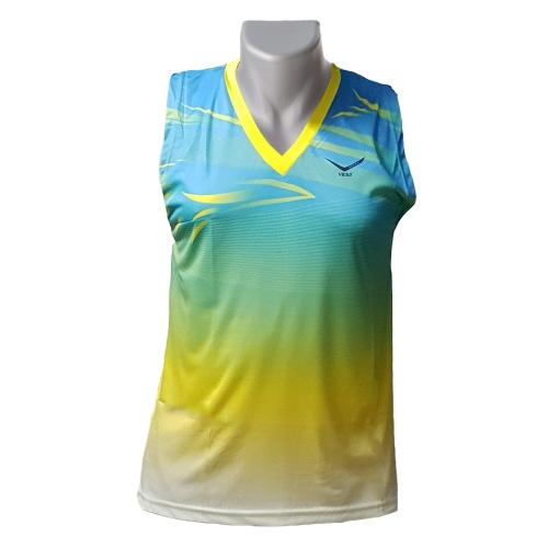 Vicky Sleeveless Dryfit Badminton Tshirt - Blue