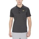 Yonex Geometric Print Collar T-Shirt - Black
