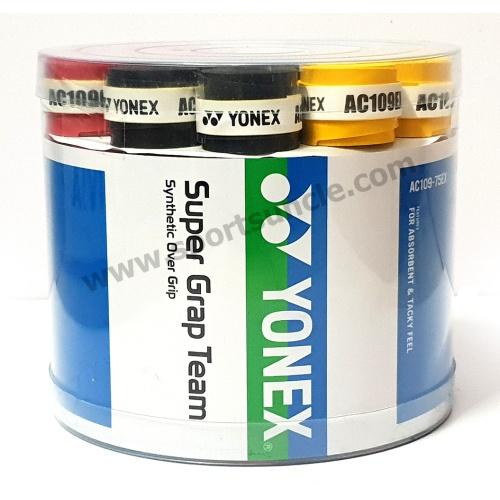 Yonex Super Grap Team Overgrip - AC109EX, Pack of 5 Grips
