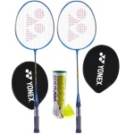 Yonex GR 303 (Pack of 2) Badminton Racket + Mavis 200i