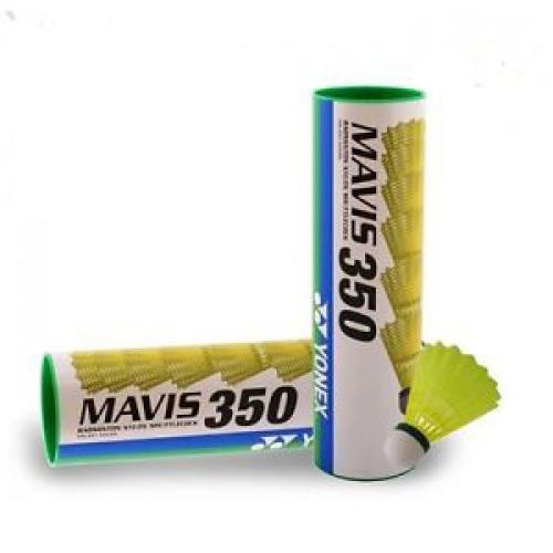 Yonex Mavis 350 (Pack of 2) Green Cap Shuttlecock - Yellow