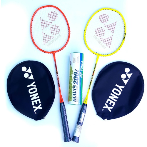 Yonex ZR 100 (Pack of 2) Badminton Racket with Mavis 200i Shuttle