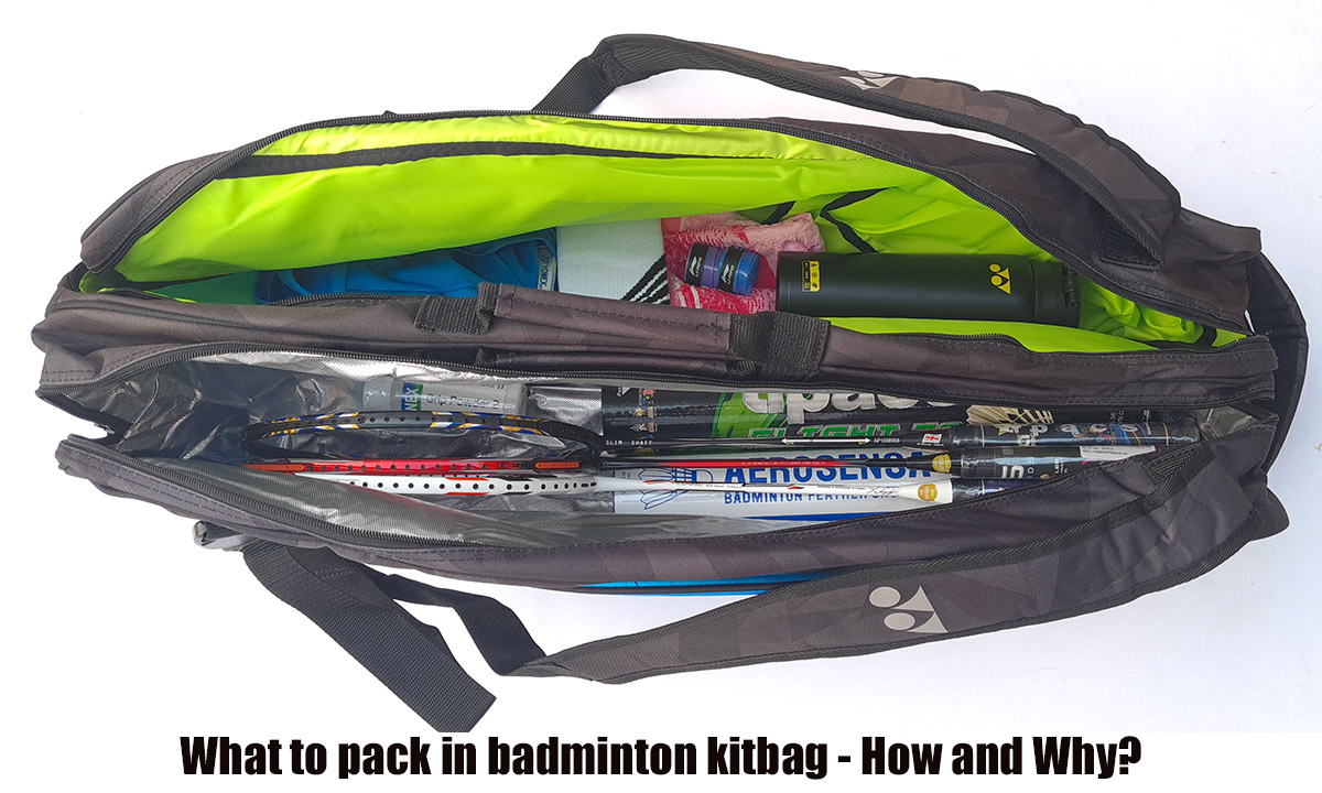 what to pack in badminton kitbag