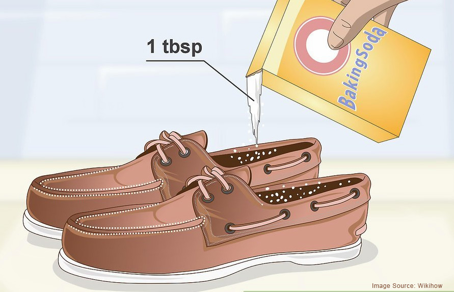 baking soda inside shoes