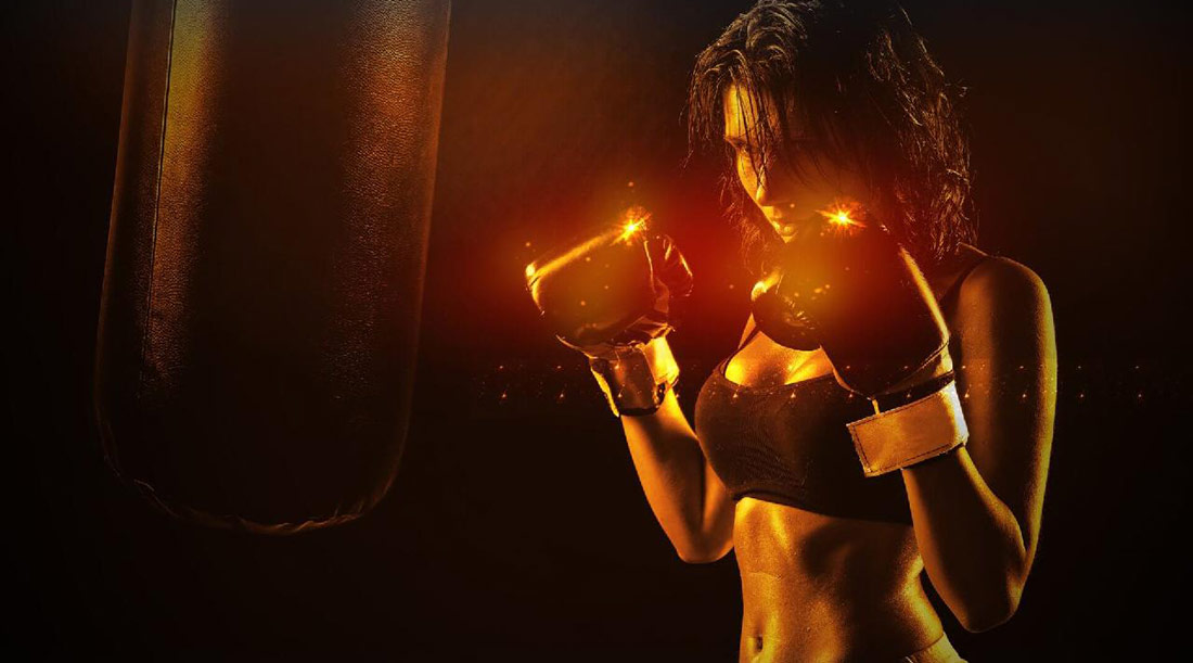 boxing workout girl