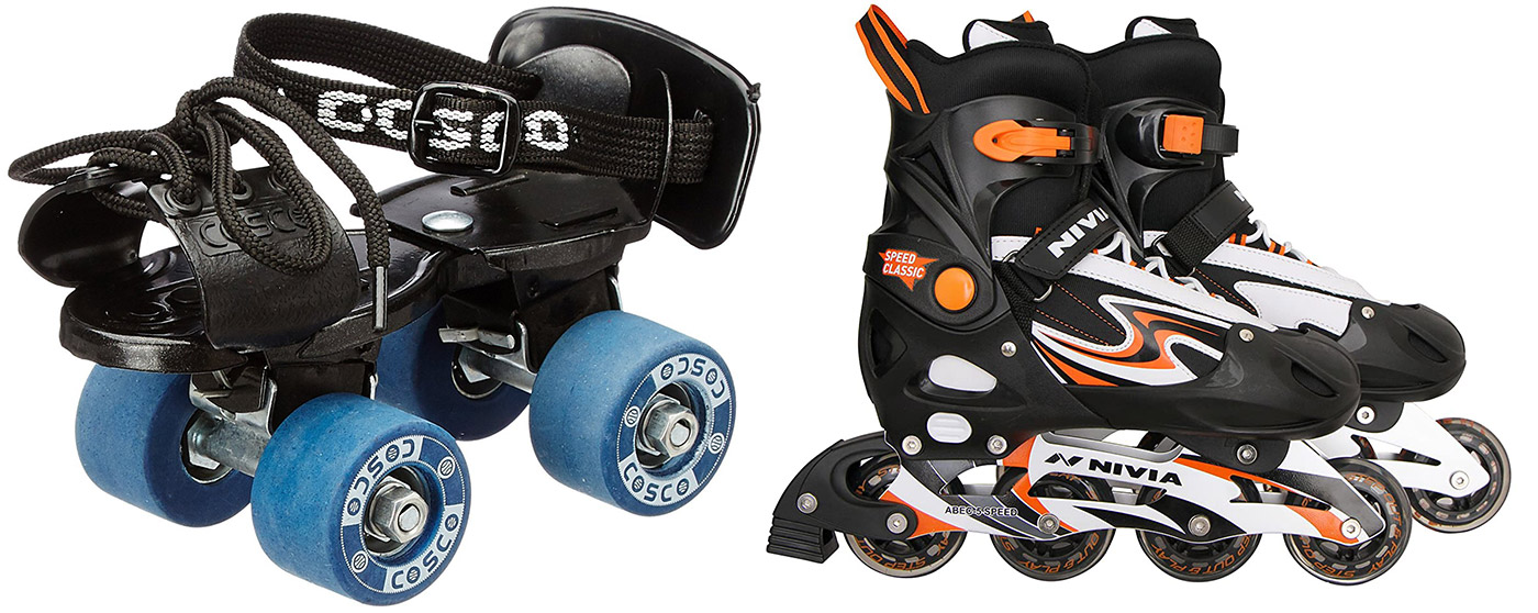 rollar and inline skates difference