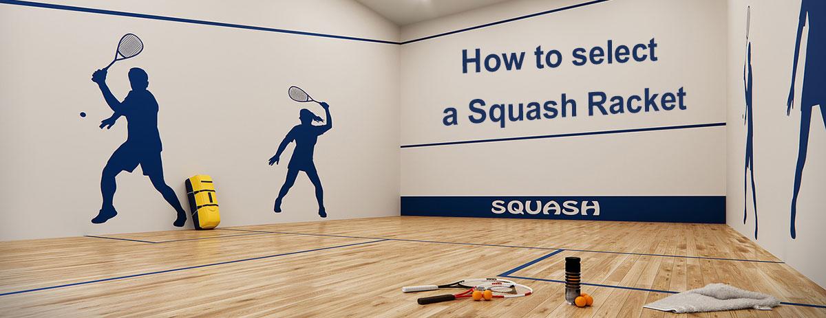 select the squash racket