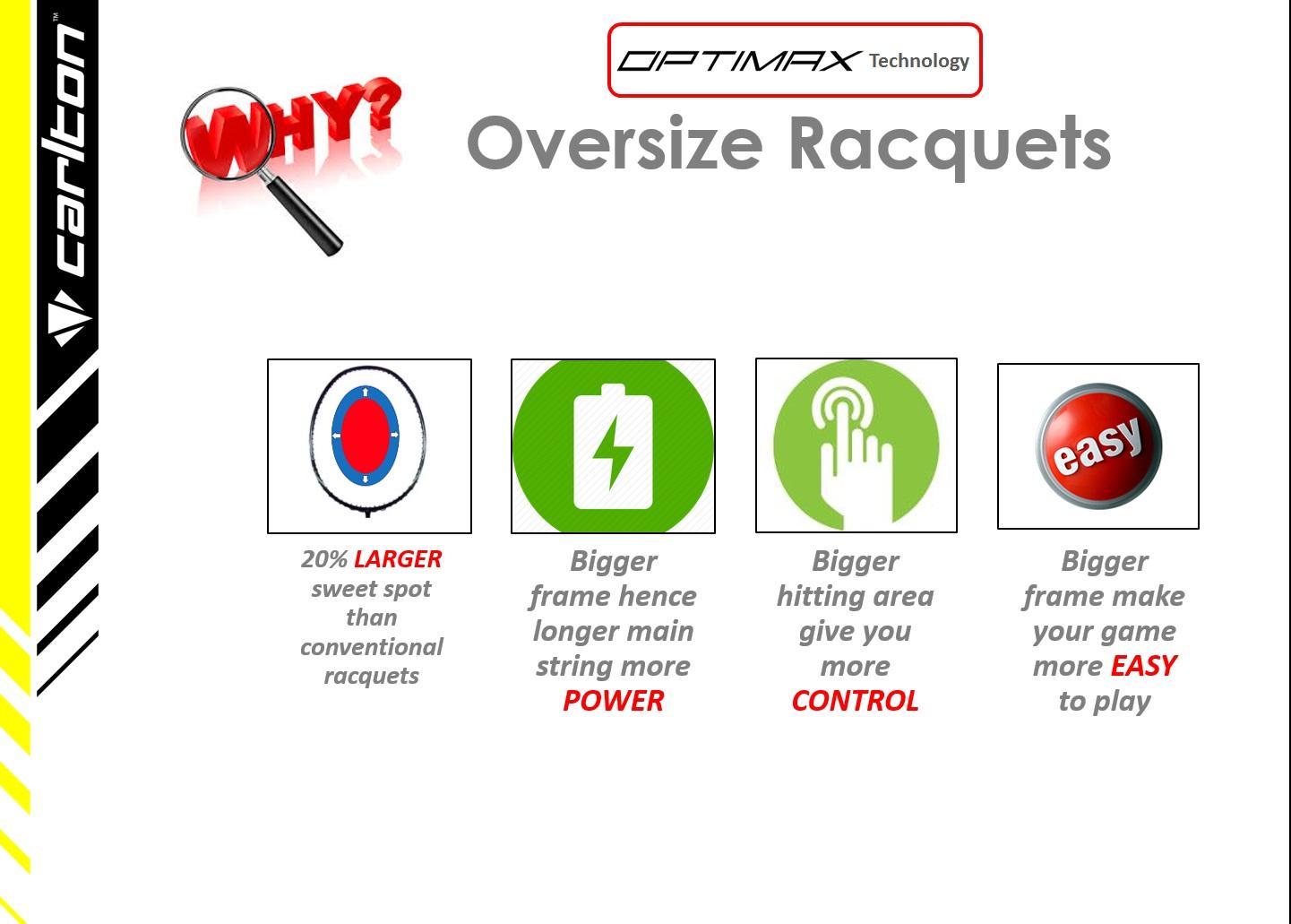 oversize rackets