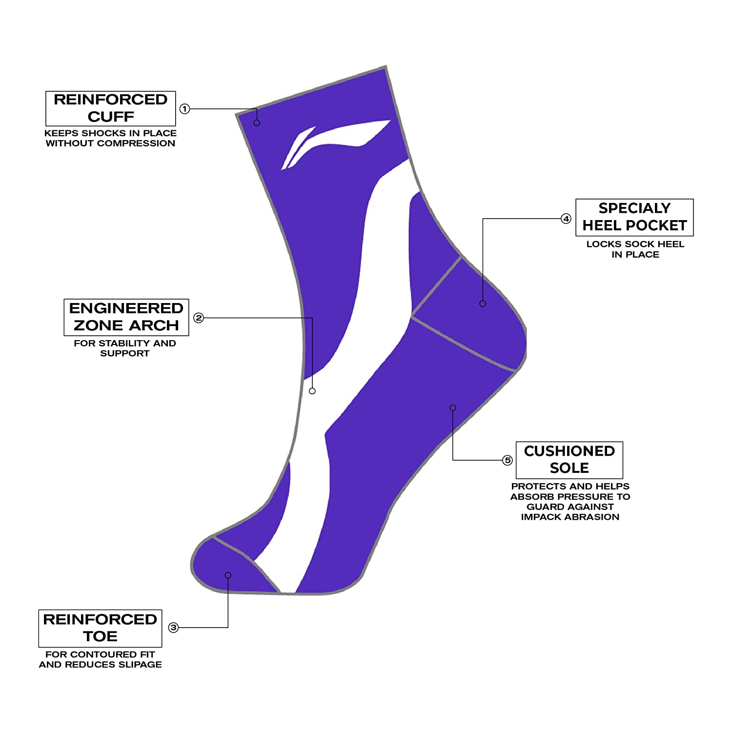 cotton mens sports socks