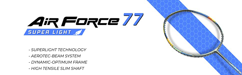airforce 77 badminton racket