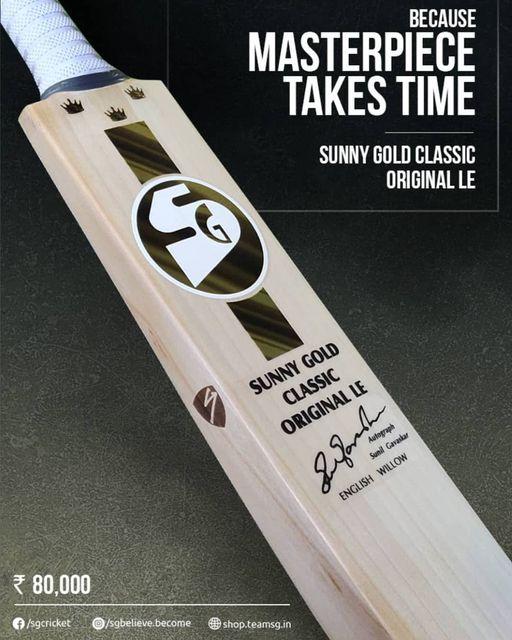 sunny gold classic le cricket bat