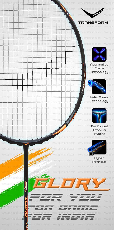 glory badminton racket details