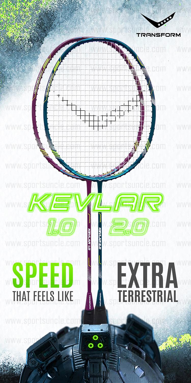 kevlar 1 badminton racket