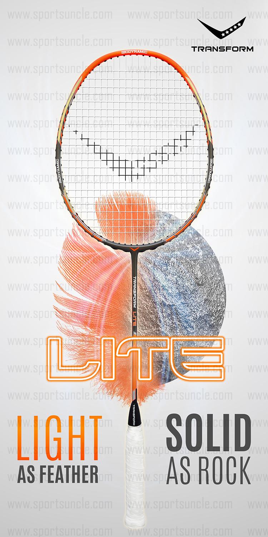 transform lite badminton racket