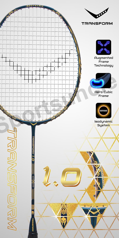 transform 1.0 badminton racket details