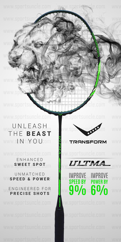 ultma badminton racket - unleash the beast